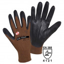 Fine knitted glove Eco Nitrile size 7, small, brow